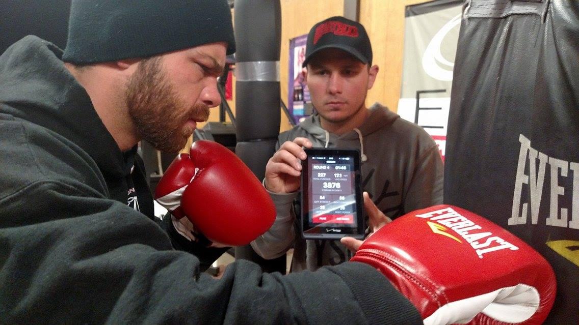 Boxer using Boxing Sensors