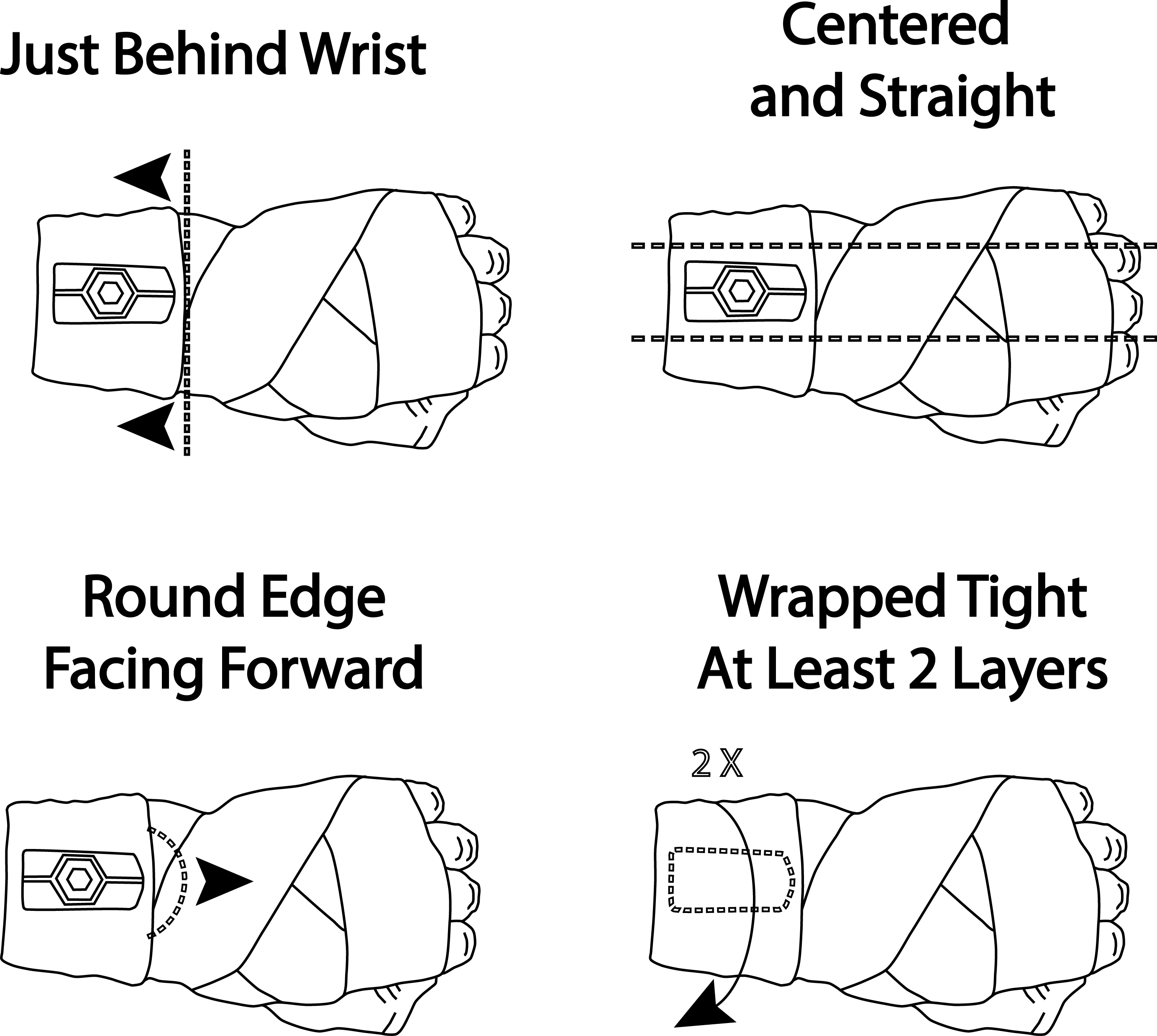 Hykso tracker on left hand